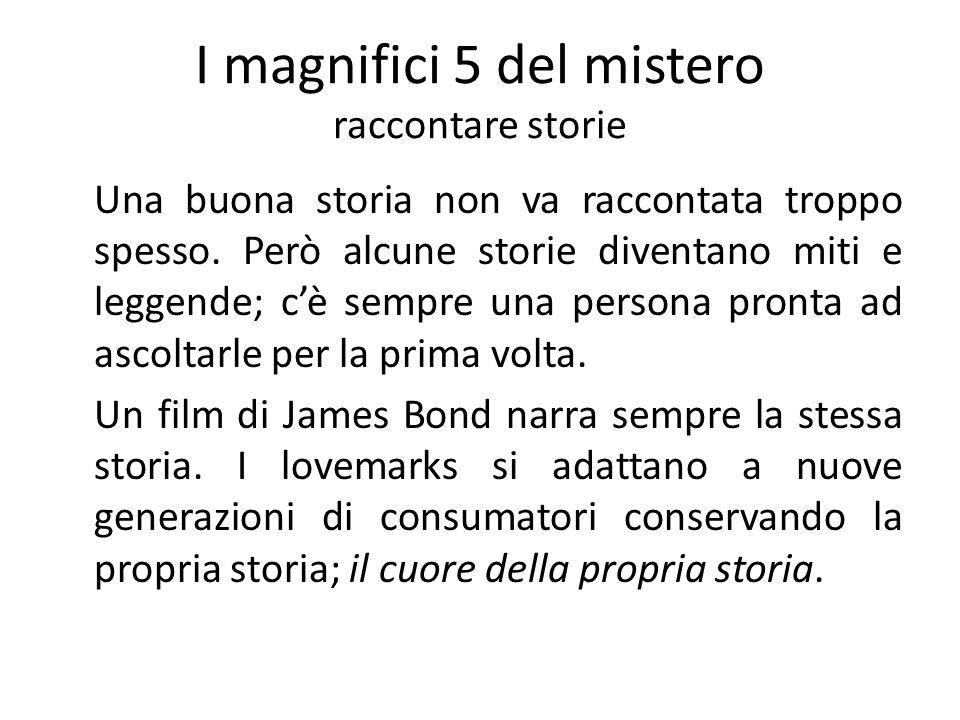 I magnifici 5 del mistero raccontare storie Una buona storia non va raccontata troppo spesso. Però alcune storie diventano miti e leggende; cè sempre