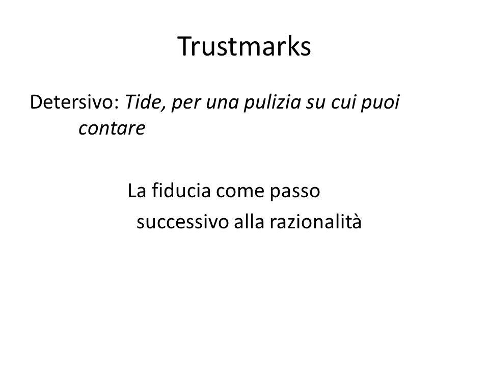 Trustmarks Detersivo: Tide, per una pulizia su cui puoi contare La fiducia come passo successivo alla razionalità
