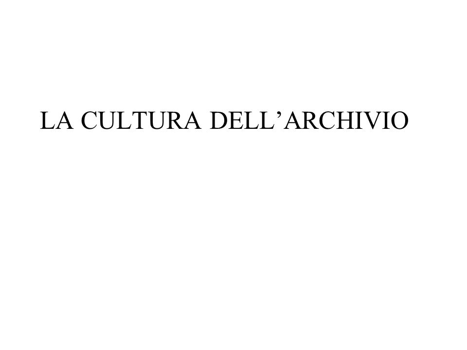 Nuovi archivi Il polimorfismo archivistico tende ormai a manifestarsi anche nella veste di aggregazioni documentarie del tutto nuove, caratteristiche dellambiente digitale e di quello telematico in particolare.
