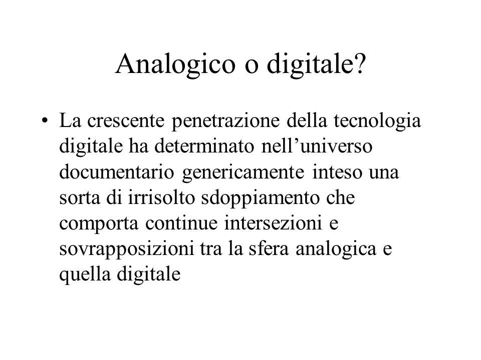 Archivi digitali e web In questa fattispecie rientrano in maniera particolare le sedimentazioni documentarie che sotto diverse forme si palesano nel web.