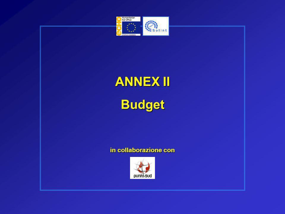 ANNEX II Budget in collaborazione con