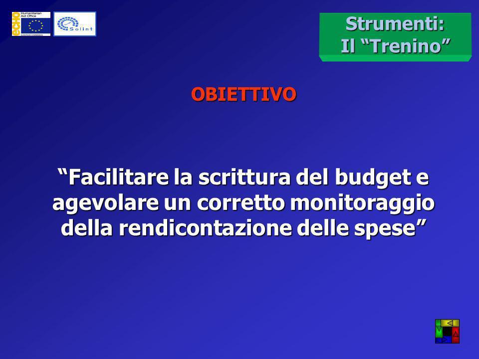 Budget:Strumenti Per agevolare il lavoro è stato creato uno strumento applicativo in materia di budget e rendicontazione delle spese Il Trenino