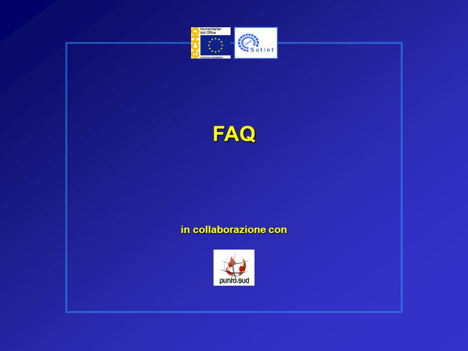 FAQ in collaborazione con