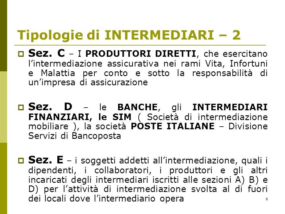 6 Tipologie di INTERMEDIARI – 2 Sez.