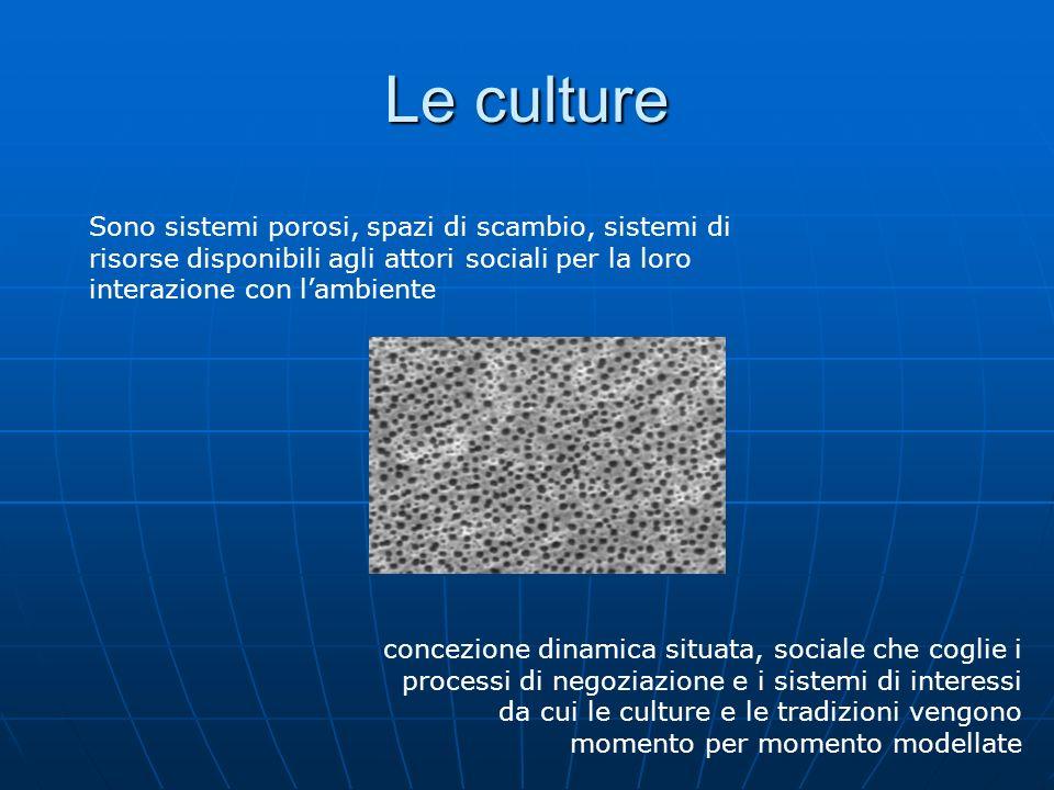etnocentrismo relativismo cultura Incomunicabilità tra culture Ogni cultura è incomprensibil e ad ogni altra Esistono valori assoluti derivati da un unico sistema culturale Posizioni etnocentriche e assimilazionistiche