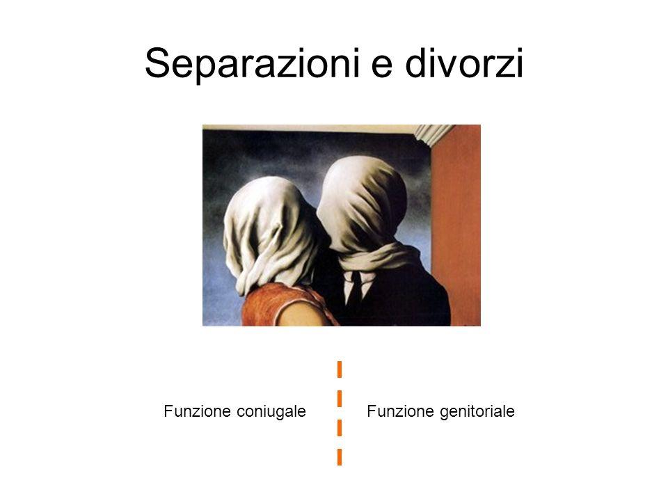 Separazioni e divorzi Funzione genitorialeFunzione coniugale