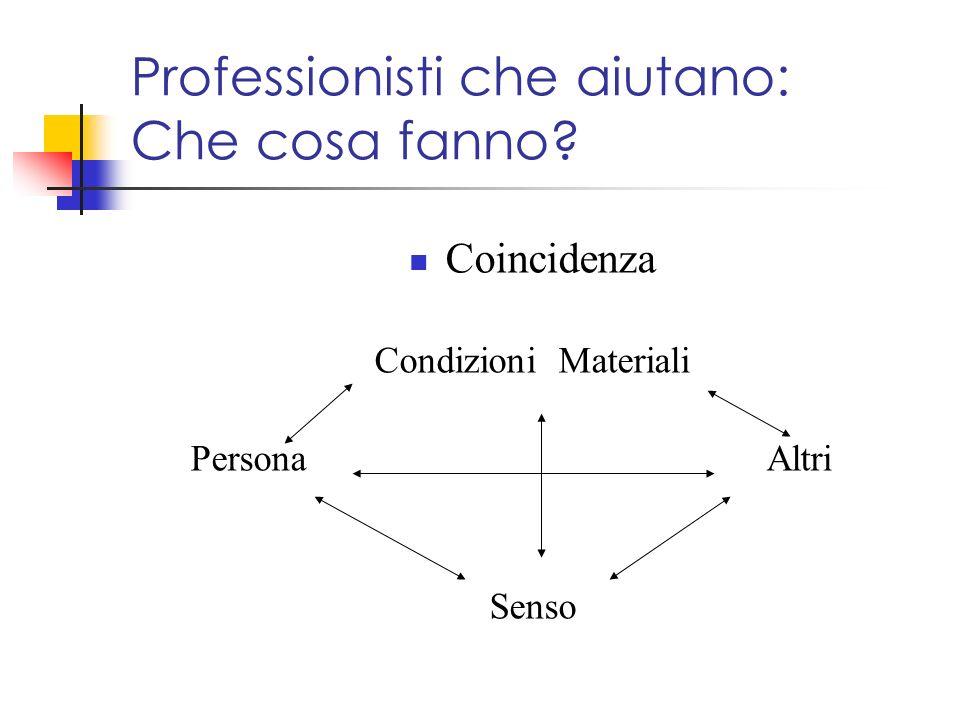 Professionisti che aiutano: Che cosa fanno? Coincidenza Condizioni Materiali Persona Altri Senso