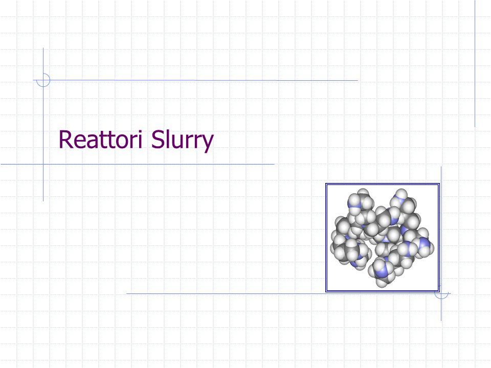 Corso di Reattori ChimiciTrieste, 27 January, 2014 - slide 5 Reattori Slurry Un reattore slurry è un reattore nel quale un gas reagente gorgoglia attraverso una soluzione contenente particelle solide catalitiche La soluzione può essere reagente oppure semplicemente inerte come nella sintesi del metano Fischer-Tropsch Reattori di questo tipo possono operare in modalità batch oppure in continuo Vantaggi delluso di questi reattori: Controllo della temperatura e recupero di calore Attività catalitica globale costante grazie alla possibilità di aggiungere piccole quantità di catalizzatore