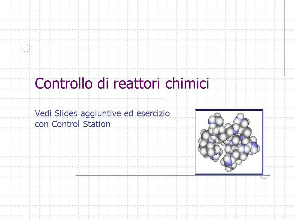 Controllo di reattori chimici Vedi Slides aggiuntive ed esercizio con Control Station