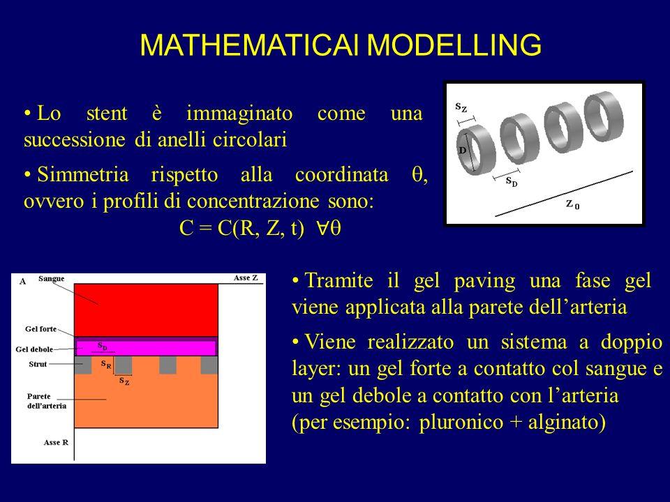 MATHEMATICAl MODELLING Lo stent è immaginato come una successione di anelli circolari Simmetria rispetto alla coordinata, ovvero i profili di concentr