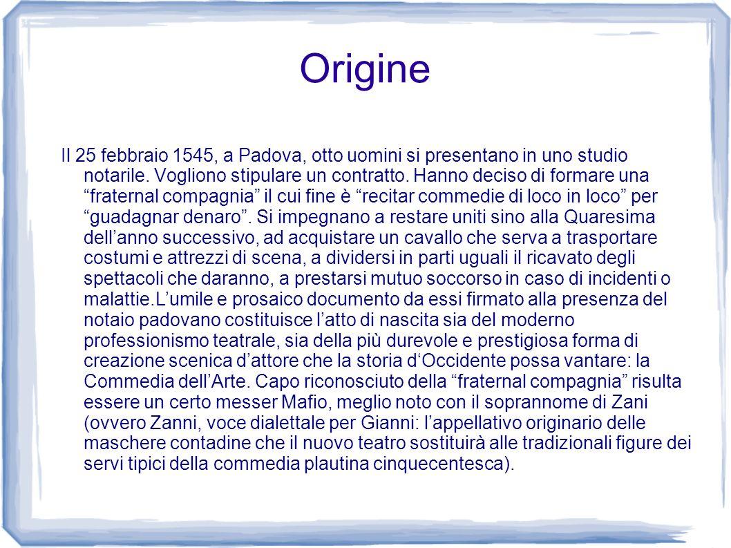 Origine Il 25 febbraio 1545, a Padova, otto uomini si presentano in uno studio notarile. Vogliono stipulare un contratto. Hanno deciso di formare una