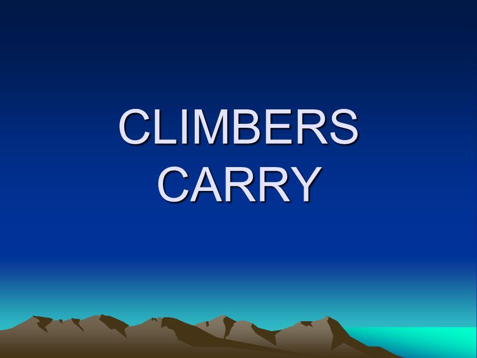 CLIMBERS CARRY