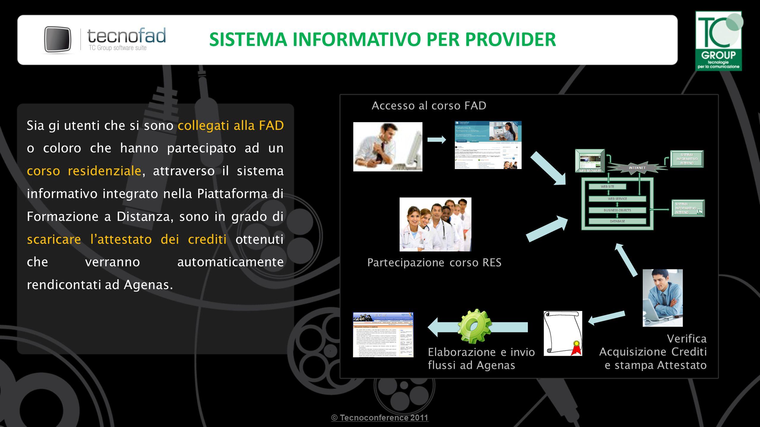 Sia gi utenti che si sono collegati alla FAD o coloro che hanno partecipato ad un corso residenziale, attraverso il sistema informativo integrato nell