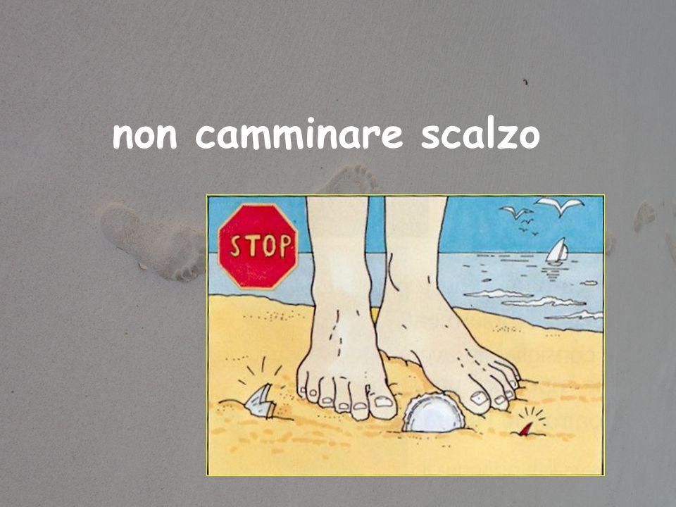non camminare scalzo