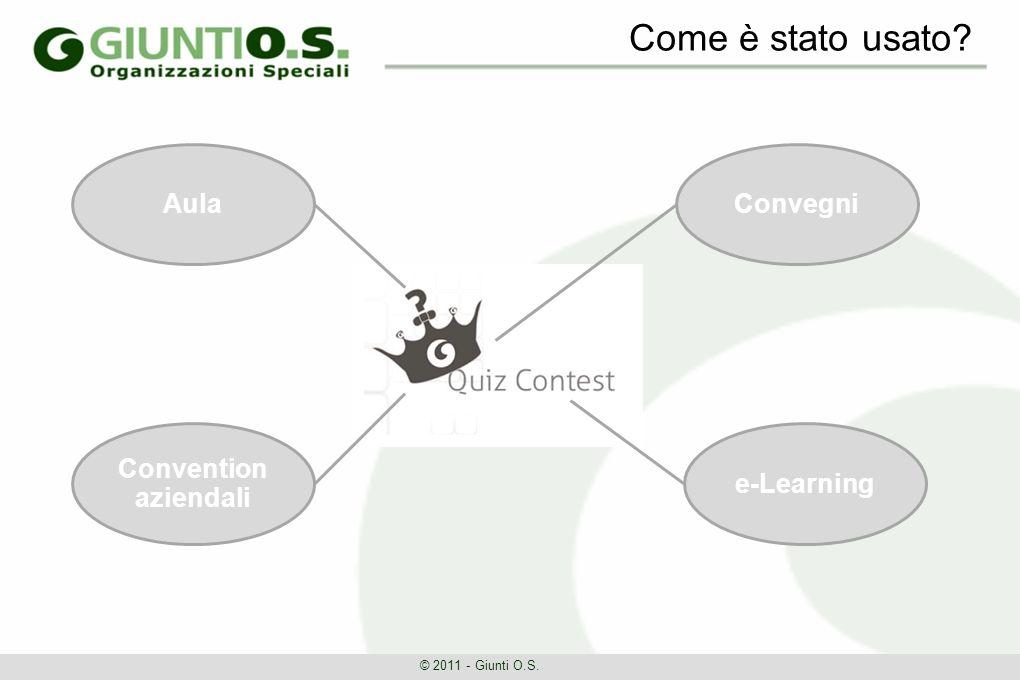 Come è stato usato © 2011 - Giunti O.S. Aula Convention aziendali e-Learning Convegni