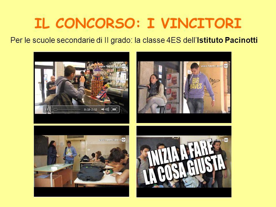 IL CONCORSO: I VINCITORI Per le scuole secondarie di II grado: la classe 4ES dellIstituto Pacinotti