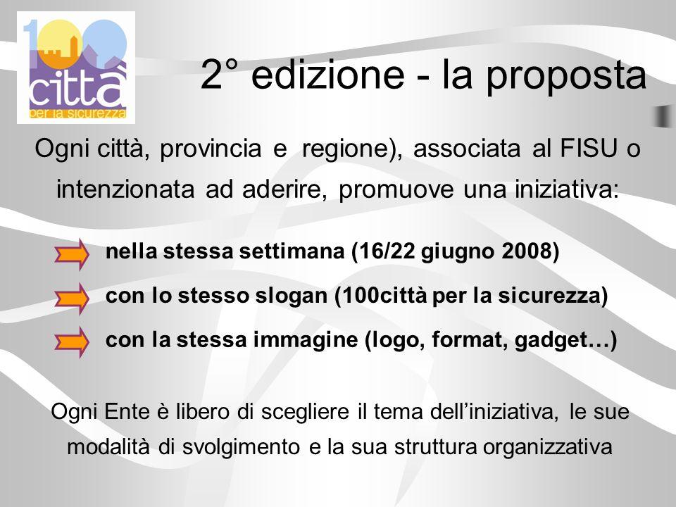 2° edizione - la proposta Ogni città, provincia e regione), associata al FISU o intenzionata ad aderire, promuove una iniziativa: nella stessa settima