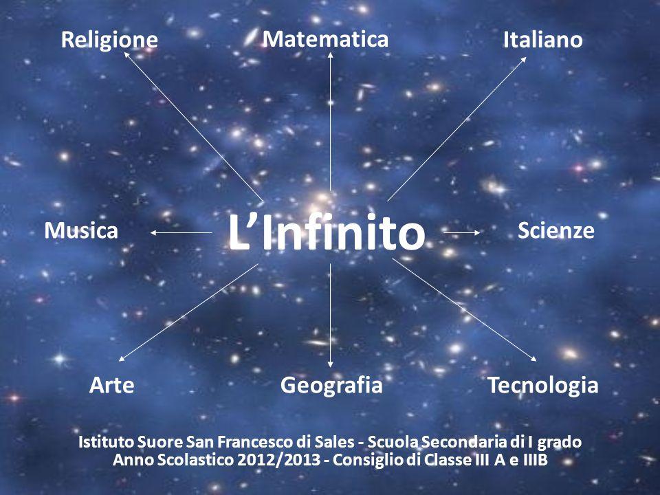 LInfinito Matematica Musica Tecnologia Scienze Italiano GeografiaArte Religione Istituto Suore San Francesco di Sales - Scuola Secondaria di I grado A