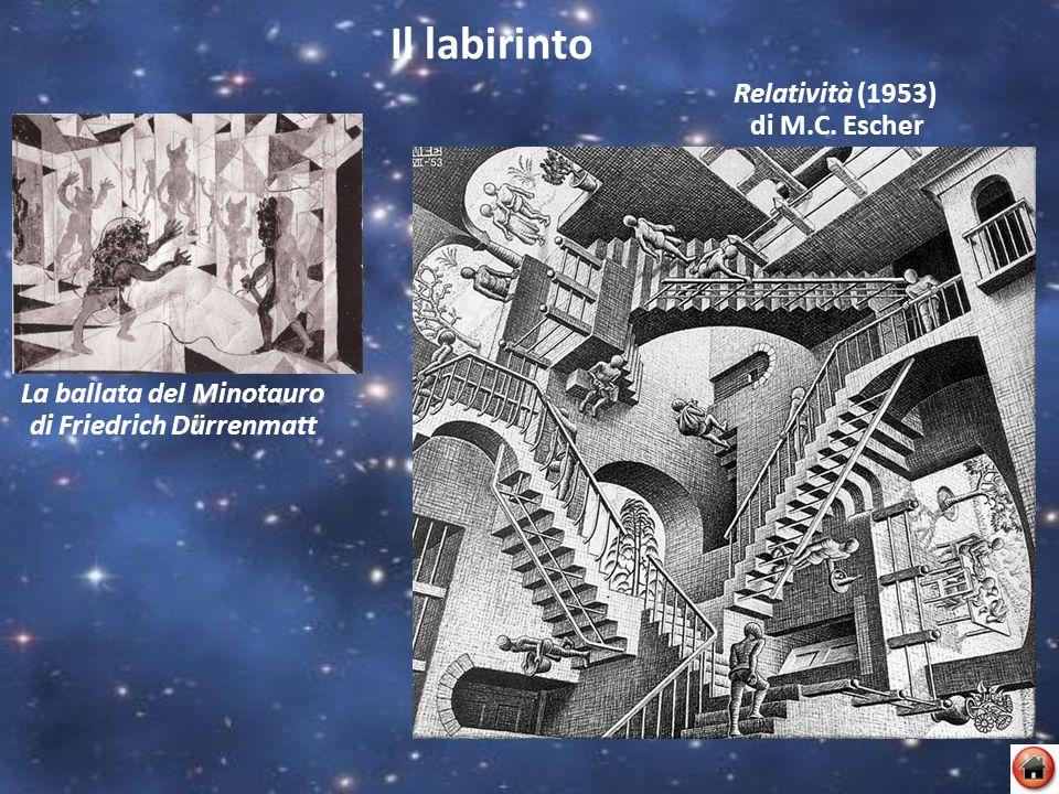 Il labirinto La ballata del Minotauro di Friedrich Dürrenmatt Relatività (1953) di M.C. Escher
