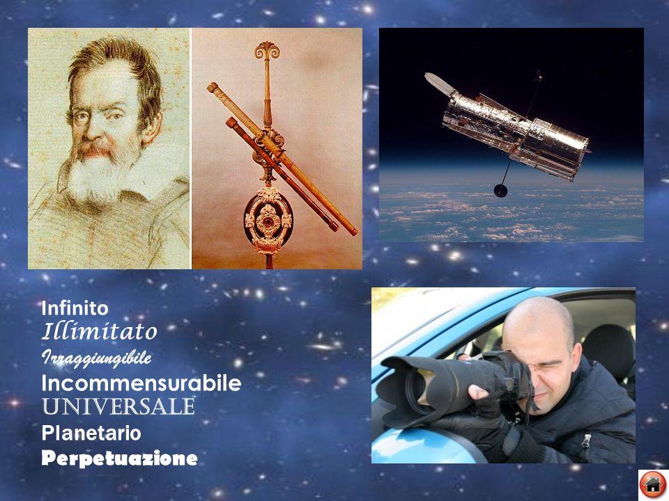 Infinito Illimitato Irraggiungibile Incommensurabile Universale Planetario Perpetuazione