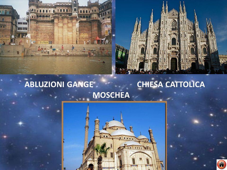 ABLUZIONI GANGECHIESA CATTOLICA MOSCHEA