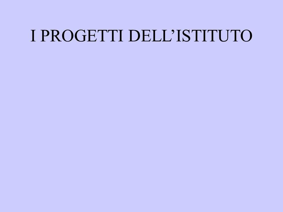 I PROGETTI DELLISTITUTO
