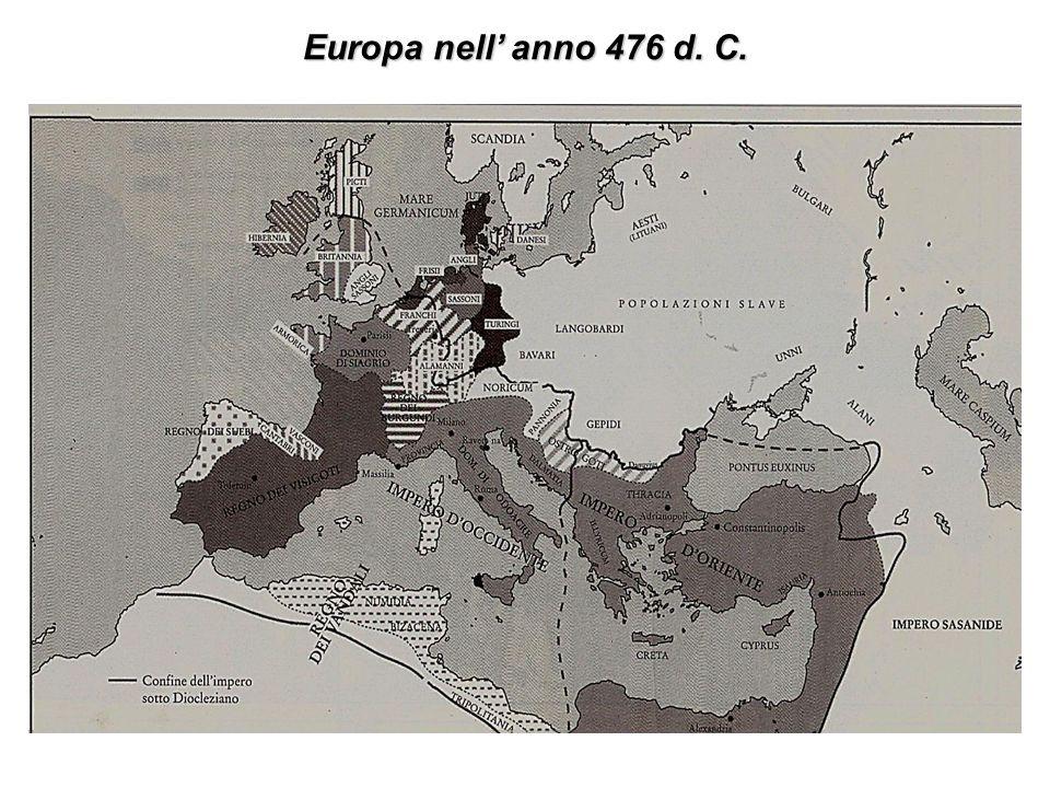 Europa nell anno 476 d. C.
