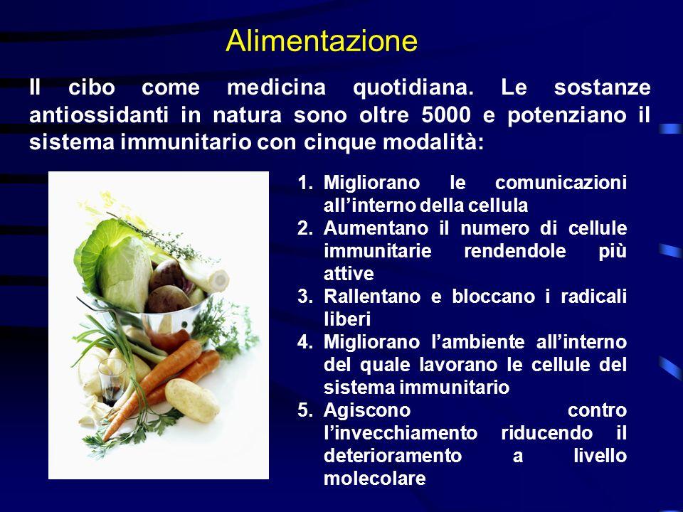 Alimentazione Il cibo come medicina quotidiana. Le sostanze antiossidanti in natura sono oltre 5000 e potenziano il sistema immunitario con cinque mod
