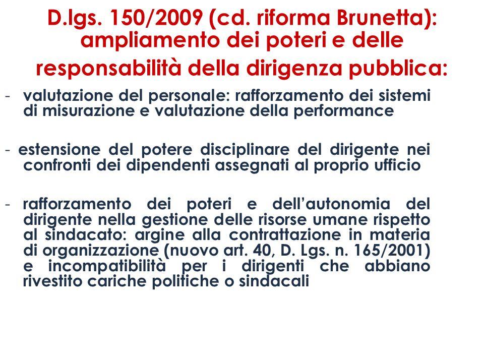 D.lgs.150/2009 (cd.