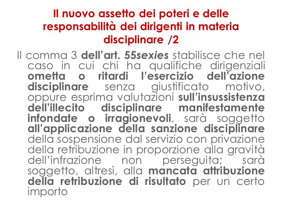 Il nuovo assetto dei poteri e delle responsabilità dei dirigenti in materia disciplinare /2 Il comma 3 dellart.