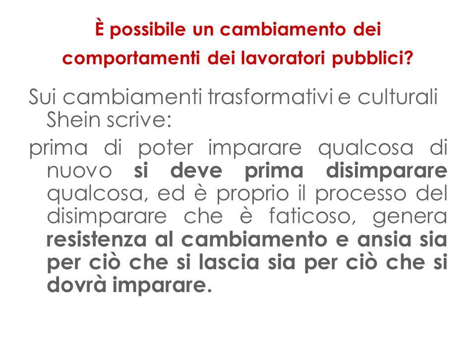 È possibile un cambiamento dei comportamenti dei lavoratori pubblici.