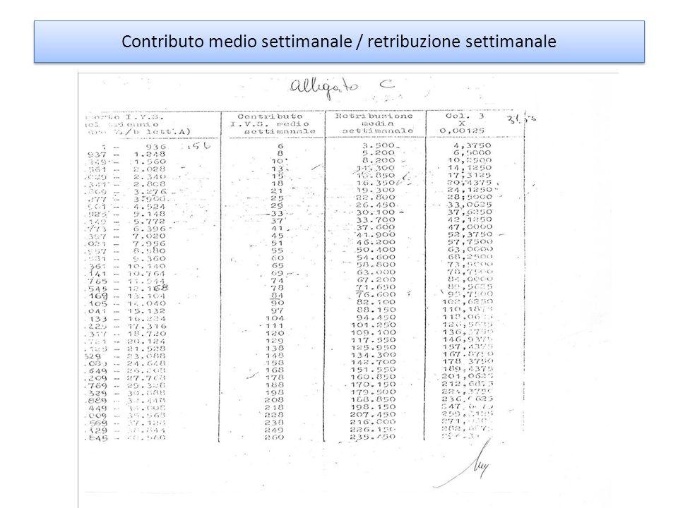 La formula retributiva prende a base due parametri: -Anzianità contributiva: numero dei contributi versati o accreditati che si esprime correntemente in settimane per max num.
