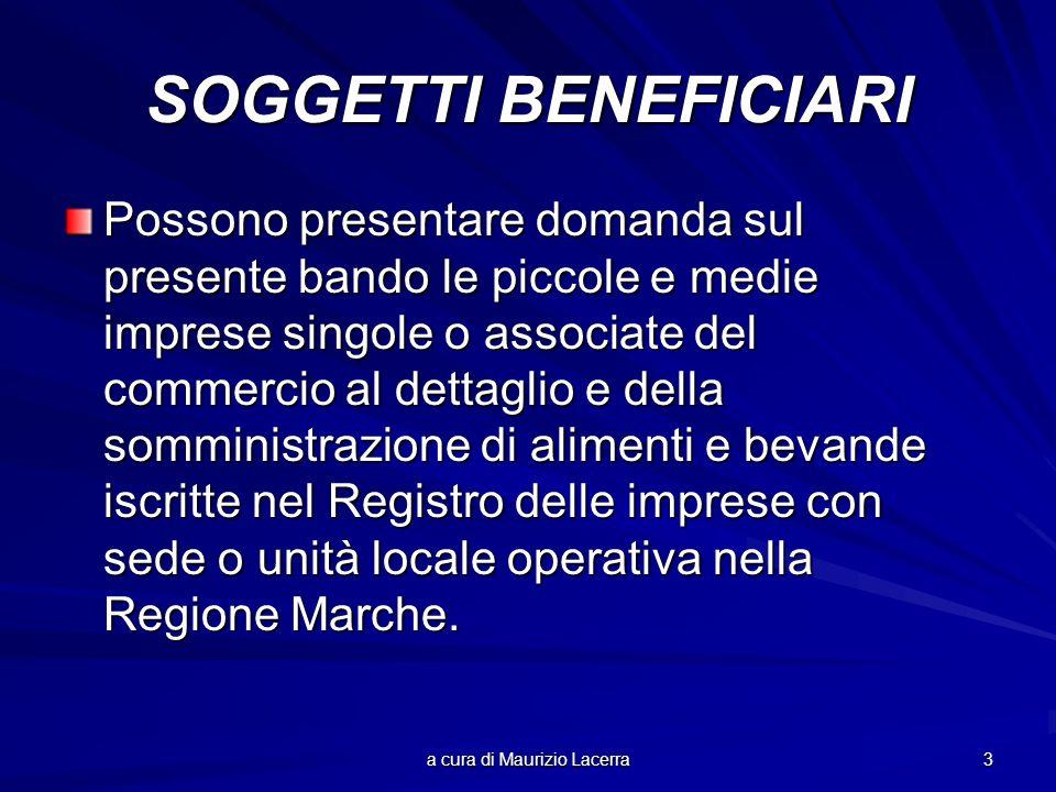 a cura di Maurizio Lacerra 14 TEMPI DI REALIZZAZIONE Tutti i progetti ammessi a finanziamento devono essere ultimati entro sei mesi dalla data di pubblicazione sul B.U.R.