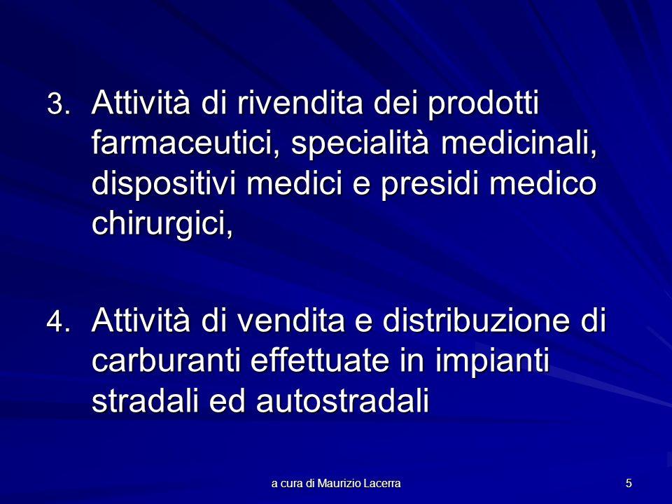 a cura di Maurizio Lacerra 5 3. Attività di rivendita dei prodotti farmaceutici, specialità medicinali, dispositivi medici e presidi medico chirurgici