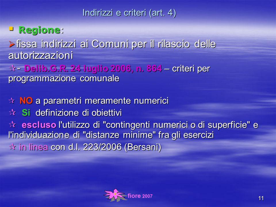 fiore 2007 11 Indirizzi e criteri (art.