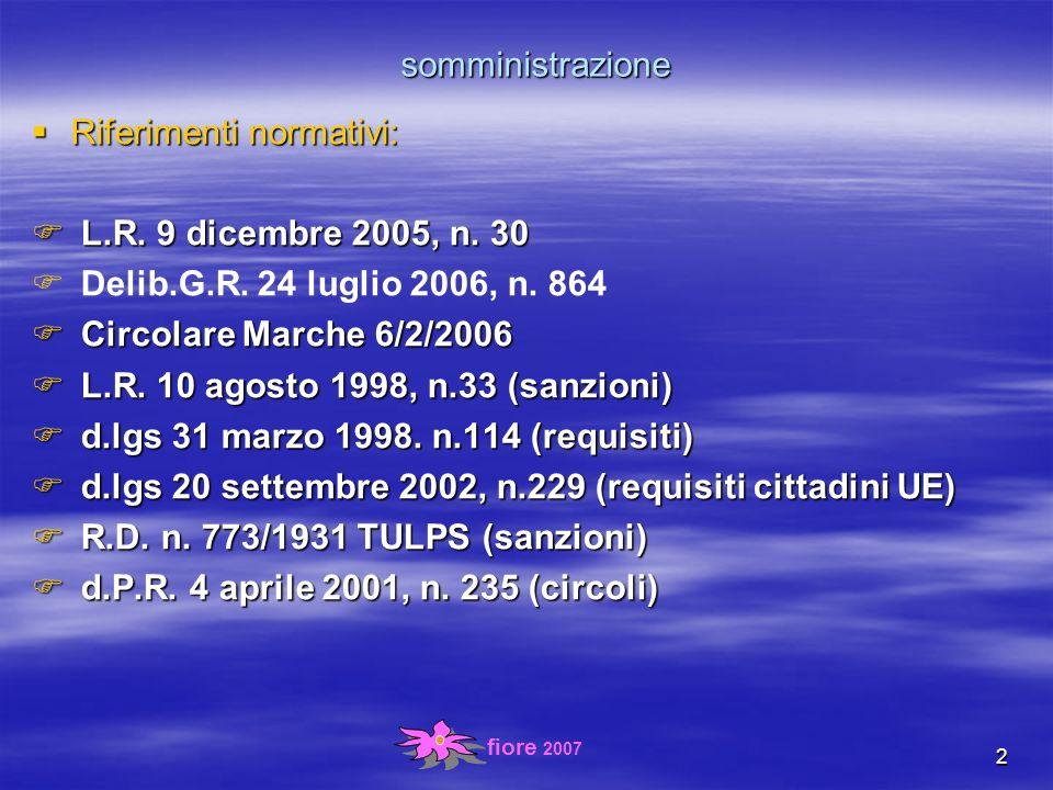 fiore 2007 13 Indirizzi e criteri (art.