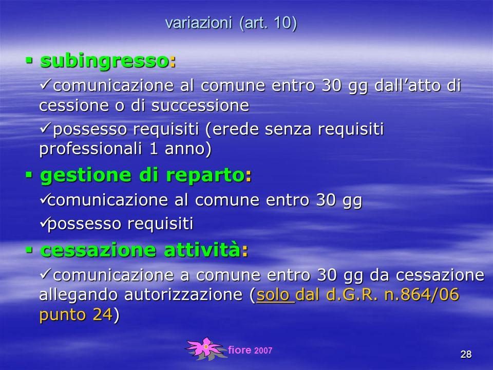 fiore 2007 28 variazioni (art.