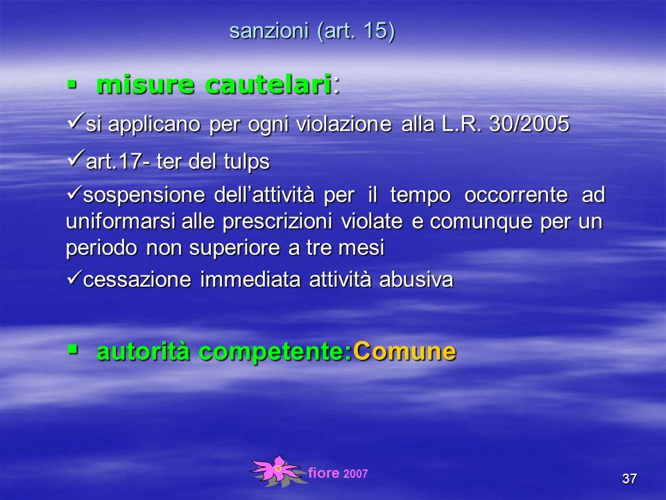 fiore 2007 37 sanzioni (art.