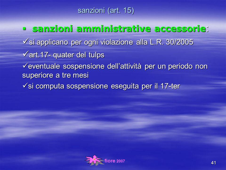 fiore 2007 41 sanzioni (art.