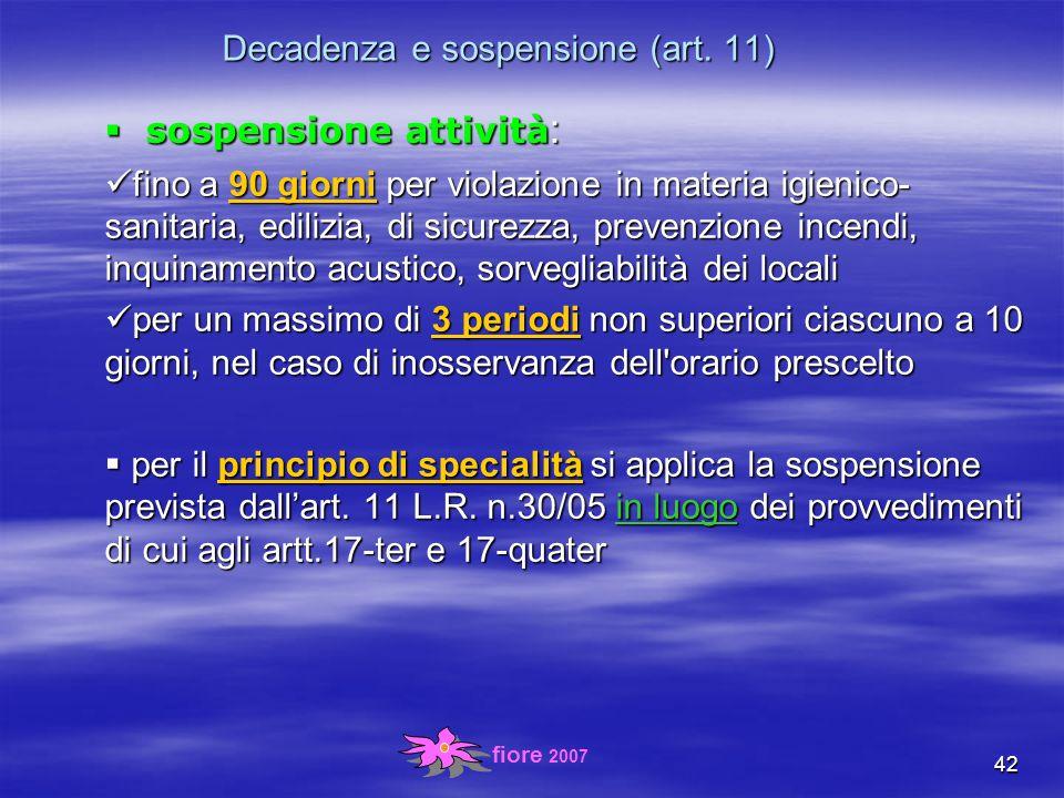 fiore 2007 42 Decadenza e sospensione (art.