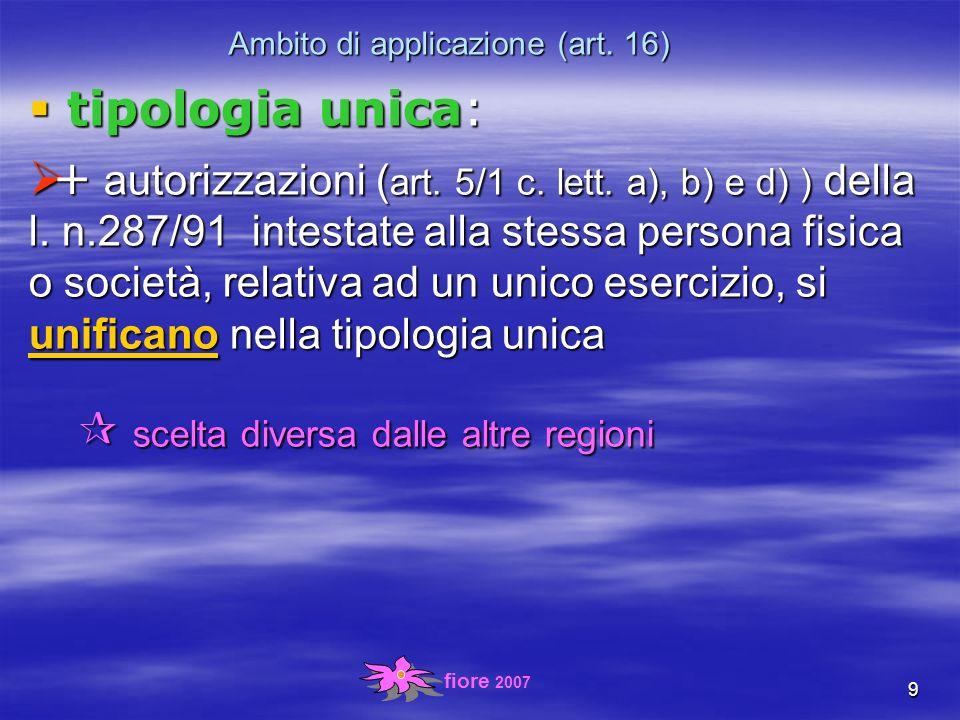 fiore 2007 30 Somministrazione alcolici (art.