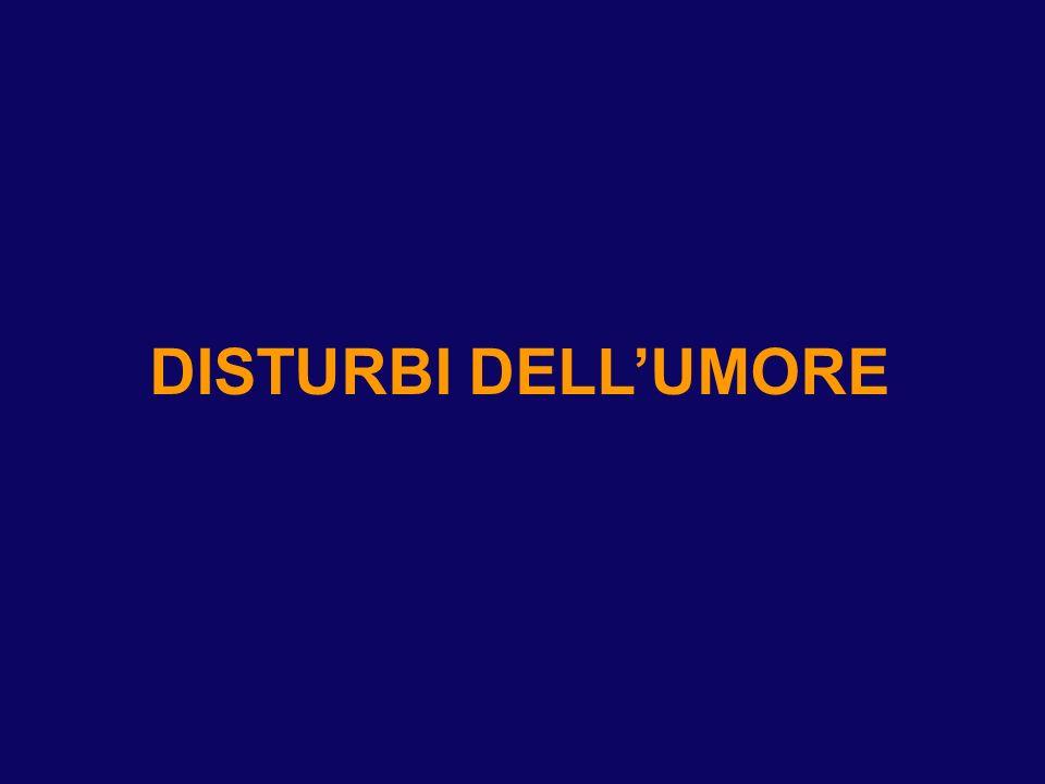 DISTURBI DELLUMORE