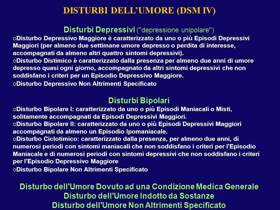 Disturbi Depressivi (