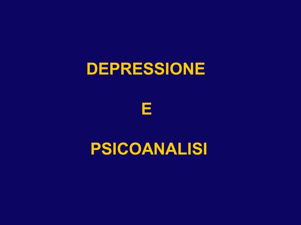 DEPRESSIONE E PSICOANALISI