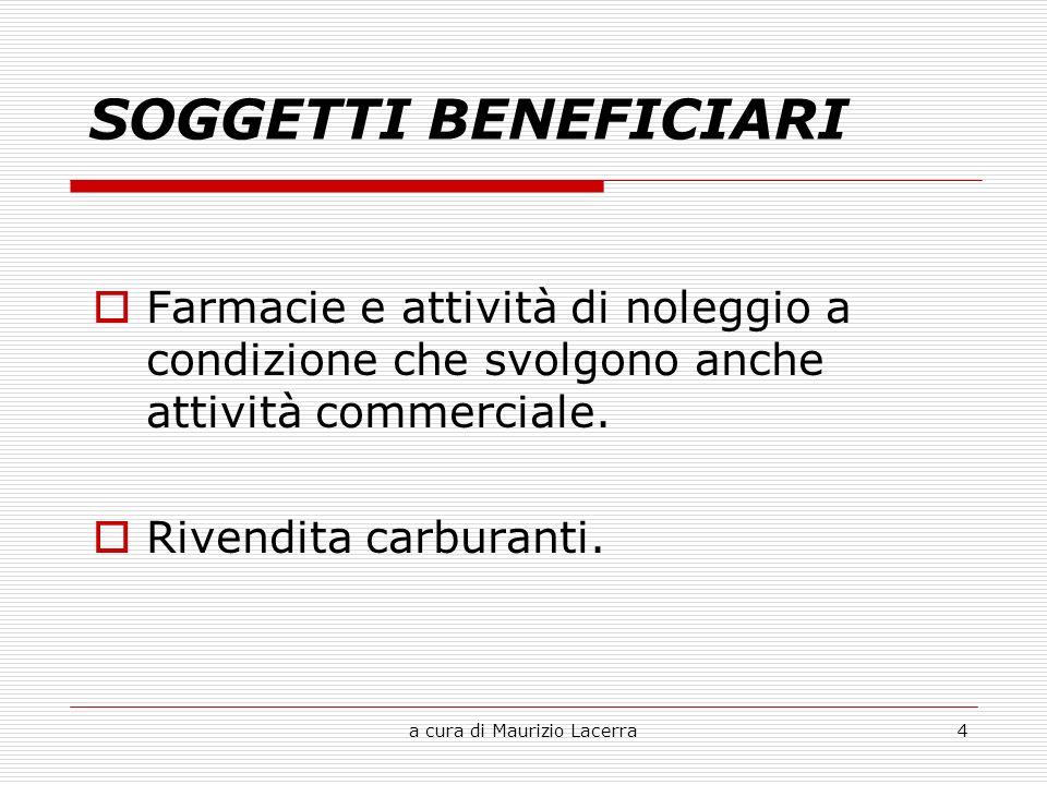 a cura di Maurizio Lacerra4 Farmacie e attività di noleggio a condizione che svolgono anche attività commerciale.