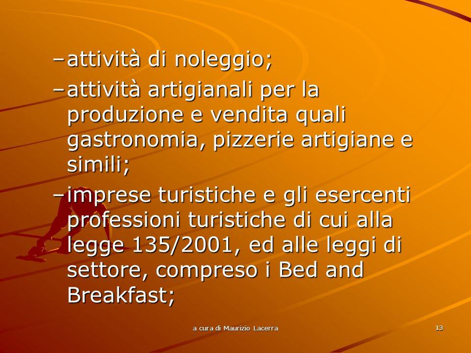 a cura di Maurizio Lacerra 14 –imprese e gli organismi fornitori di servizi strettamente connessi alle iniziative di cui allart.