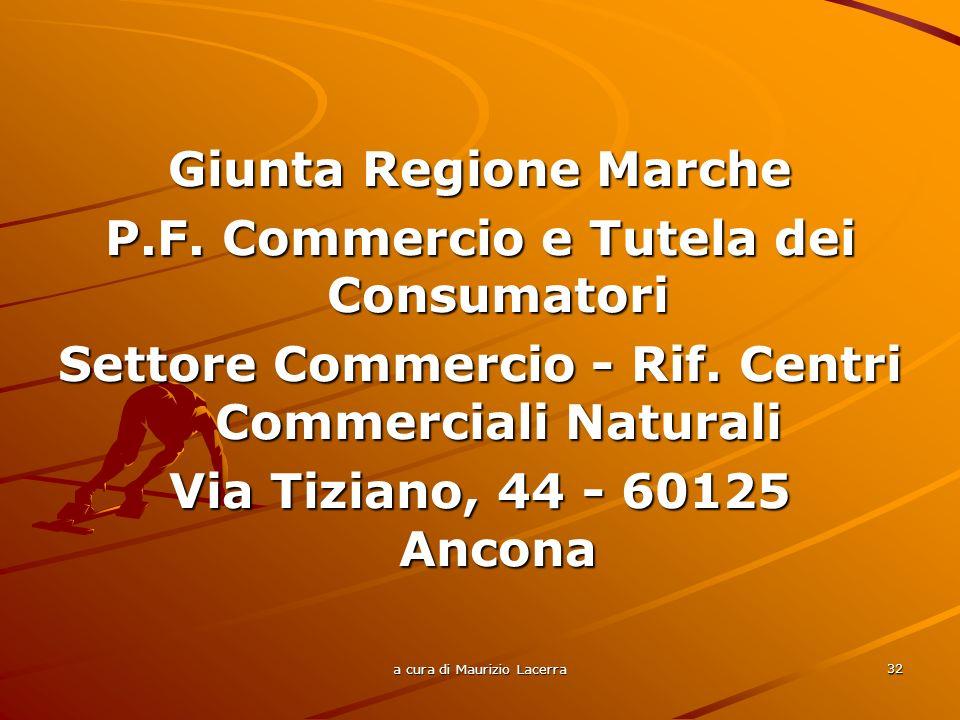 a cura di Maurizio Lacerra 33 GRIGLIA DI VALUTAZIONE Coinvolgimento finanziario di altri soggetti pubblici e/o privati PUNTI 3 Per ogni PMI coinvolta fino ad un massimo di n.