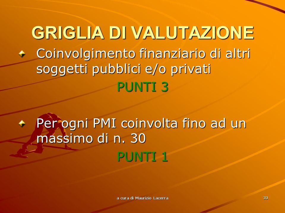 a cura di Maurizio Lacerra 34 Progetti a più alto incremento occupazionale con particolare riferimento a quello femminile: Da n.