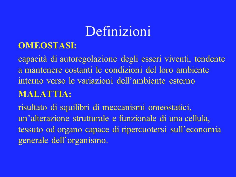 Definizioni OMEOSTASI: capacità di autoregolazione degli esseri viventi, tendente a mantenere costanti le condizioni del loro ambiente interno verso l