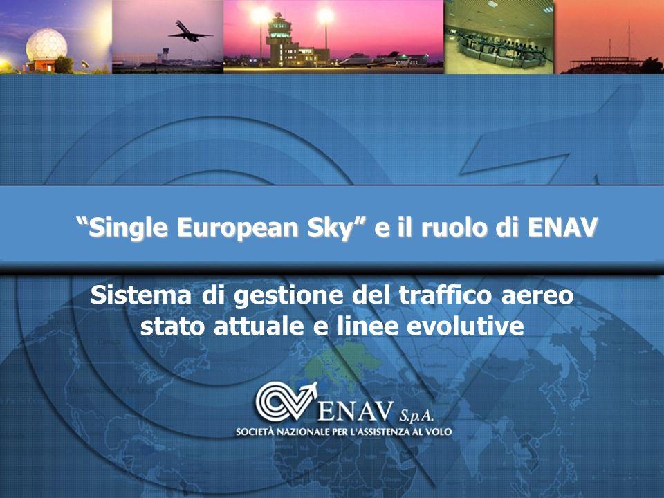 Sistema di gestione del traffico aereo stato attuale e linee evolutive Single European Sky e il ruolo di ENAV